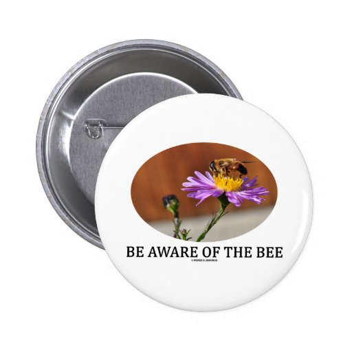 Sea consciente de la abeja (la abeja en una flor) pins