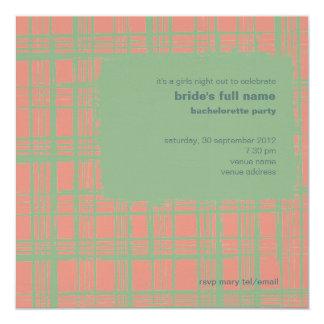 """Sea & Coral  Bachelorette Party Invitation 5.25"""" Square Invitation Card"""
