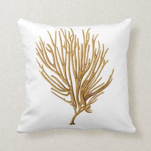 Sea Coral Throw Pillows : Sea Coral Beach Decorative Pillow no.12 Zazzle