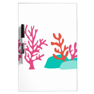 Sea Coral Dry Erase Board