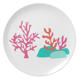 Sea Coral Melamine Plate