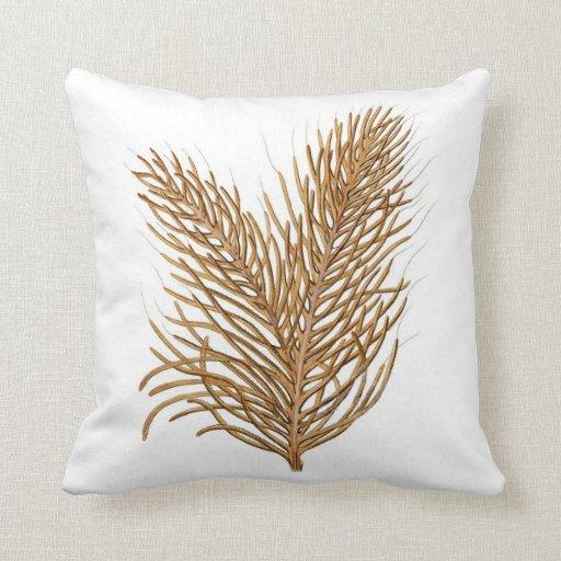 Sea Coral Throw Pillows : Sea Coral Nautical Decorative Pillow no.8 Zazzle