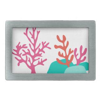 Sea Coral Rectangular Belt Buckle