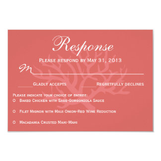 Sea Coral RSVP Response Cards