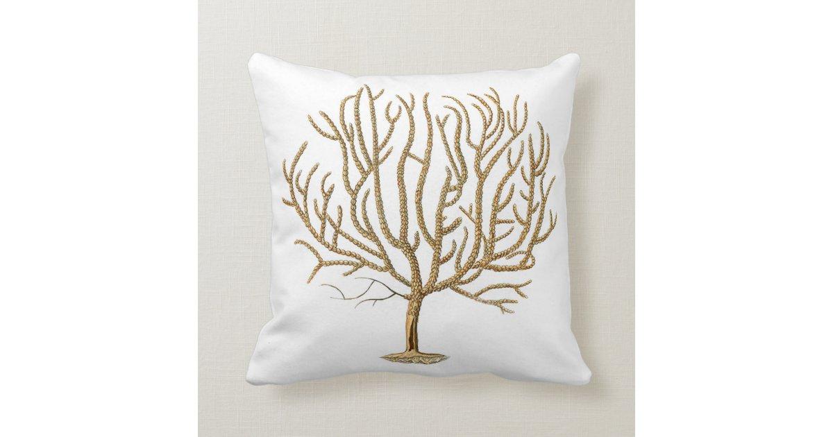 Sea Coral Throw Pillows : Sea Coral Throw Pillow no.4 Zazzle
