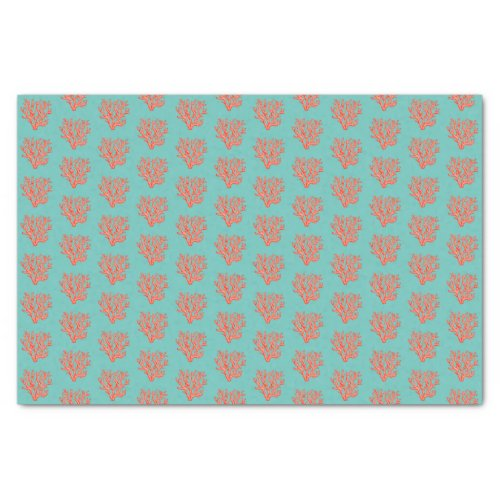 Sea coral tissue paper