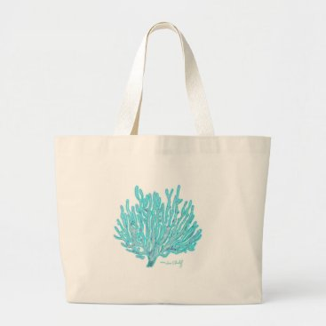 Beach Themed Sea coral tote bag