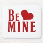 Sea corazón del día de San Valentín de la mina Tapetes De Raton