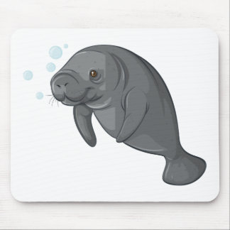 Sea cow mouse pad