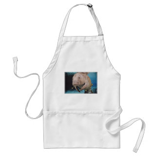 Sea Cow Swimming Adult Apron