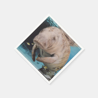 Sea Cow Swimming Paper Napkin