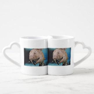 Sea Cow Swimming Couples Mug
