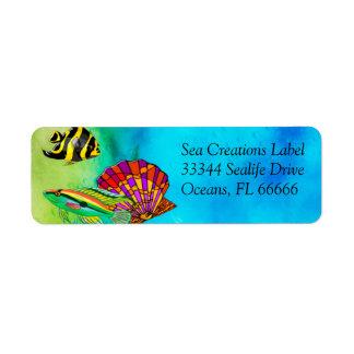 Sea Creations Mixed Media Custom Return Address Label