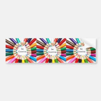 Sea creativo etiqueta de parachoque
