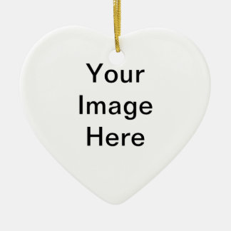 Sea creativo crean su propio diseño del regalo adorno navideño de cerámica en forma de corazón
