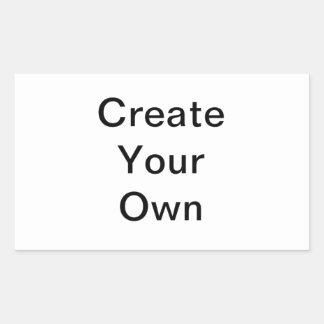 Sea creativo crean su propio diseño del regalo pegatina rectangular
