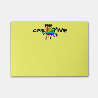 Sea creativo nota post-it