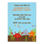 """Sea Creature 5x7 Party Invitation 5"""" X 7"""" Invitation Card"""