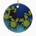 Sea Creature Christmas fractal Ceramic Ornament