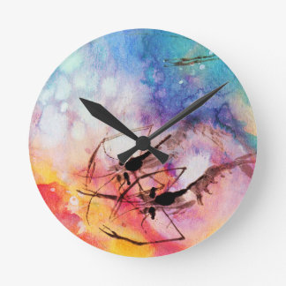 SEA CREATURE ROUND CLOCK
