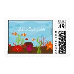 Sea Creature Stamps