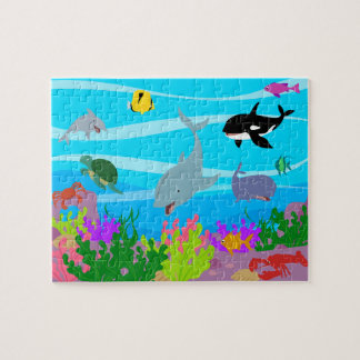 """Sea creatures 8"""" x 10"""" Photo Puzzle with Gift Box"""