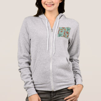 sea creatures and shells hoodie