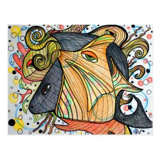Sea Creatures Art Postcard