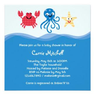 Sea Creatures Baby Shower Invitation