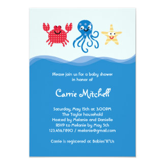 Sea Creatures Baby Shower Invitation
