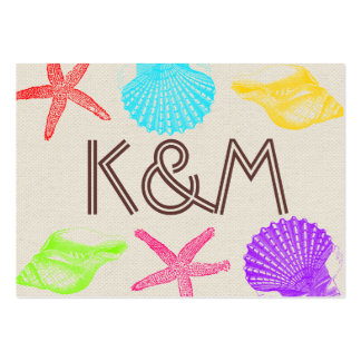 Sea Creatures Beach Wedding Place Cards Large Business Card
