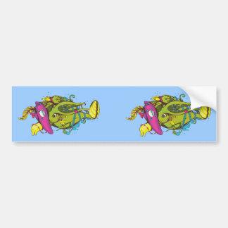 Sea Creatures Fantasy Cartoon Art Bumper Stickers