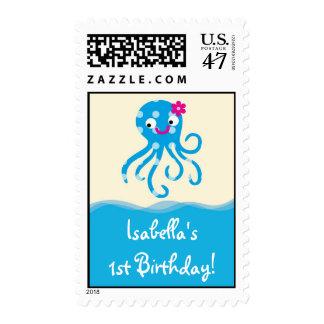 Sea Creatures Girl Postage