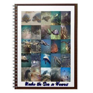 Sea creatures Hawaiian Notebook