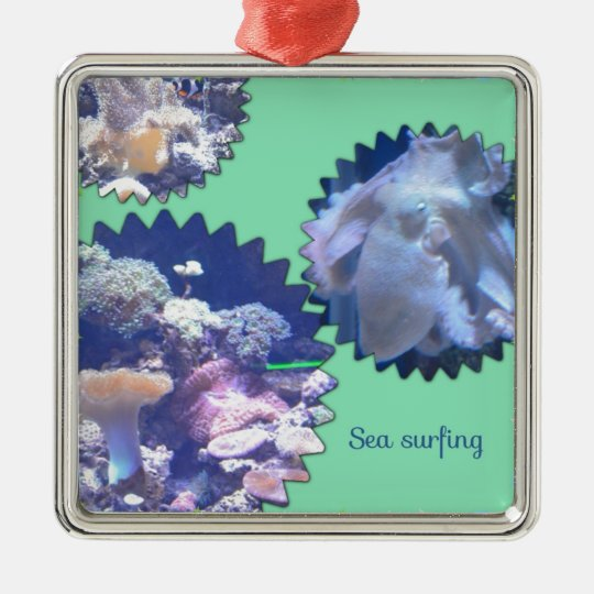Sea creatures metal ornament