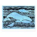 Sea Creatures Postcard