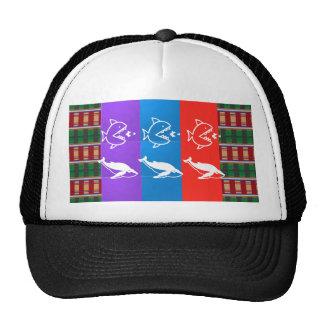 Sea Creatures : SHARK bigFISH smallFISH Food Trucker Hat