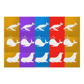 Sea Creatures : SHARK WHALE SEAL Poster