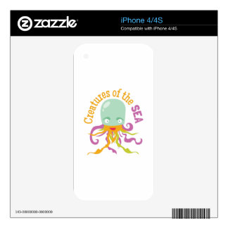 Sea Creatures Decal For The iPhone 4
