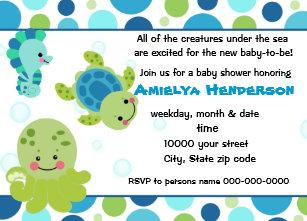 Under the sea baby shower invitations announcements zazzle sea creatures under the sea invitation filmwisefo