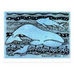 Sea Creatures Zentangle Post Card