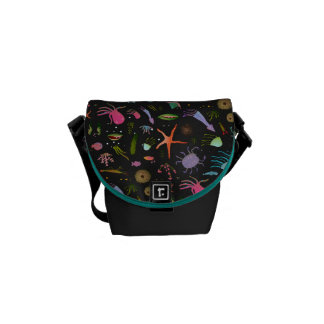 Sea Critters Pattern Courier Bag