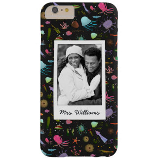 Sea Critters Pattern | Your Photo & Name Barely There iPhone 6 Plus Case