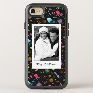 Sea Critters Pattern | Your Photo & Name OtterBox Symmetry iPhone 8/7 Case