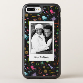 Sea Critters Pattern | Your Photo & Name OtterBox Symmetry iPhone 8 Plus/7 Plus Case
