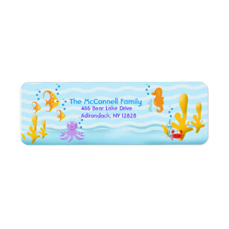 SEA CRITTERS PRINTABLE ADDRESS LABELS