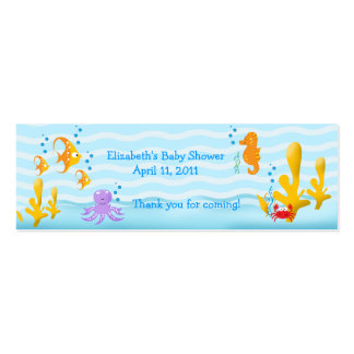 SEA CRITTERS Shower Birthday Favor Tag Business Card