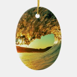 Sea Day Breaker Ceramic Ornament