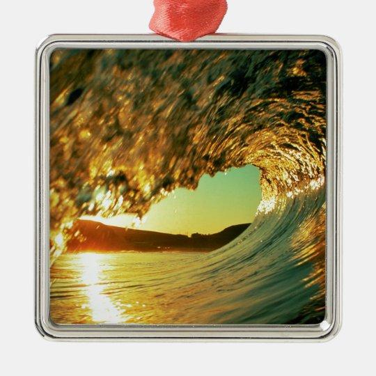 Sea Day Breaker Metal Ornament