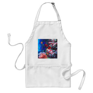 Sea depth in Christmas season Adult Apron
